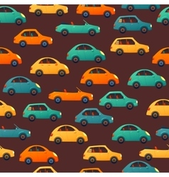 Car seamless pattern vector