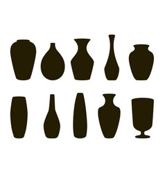 ceramic vases collection vector image