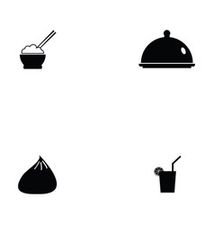 Chinese food icon set vector