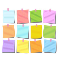colorful note paper set vector image