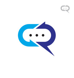 Cr chat logo vector