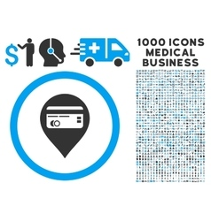 Credit Card Pointer Icon with 1000 Medical vector image