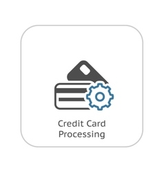 Credit Card Processing Icon Flat Design vector image
