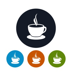 Cup of tea icon cup of coffee icon vector image