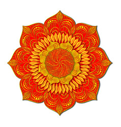 decorative colored mandala in style of vector image