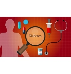 Diabetes mellitus diabetic diagnosis medication vector