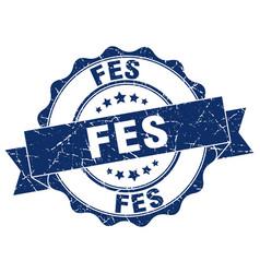 fes round ribbon seal vector image