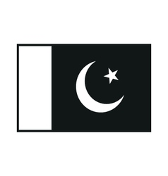 Flag of Pakistan monochrome on white background vector