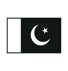 Flag of pakistan monochrome on white background vector