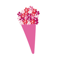 Flowers bouquet icon vector