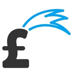 Fortune falling pound flat icon symbol vector
