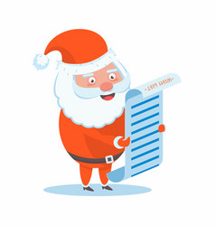 funny happy santa claus character christmas cards vector image