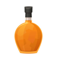 Glass bottle bourbon on white background vector
