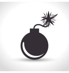 icon insurance security bomb design vector image