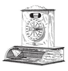 Indicator and cash register vintage vector