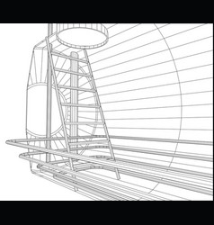 Industrial tank wire-frame eps10 format vector