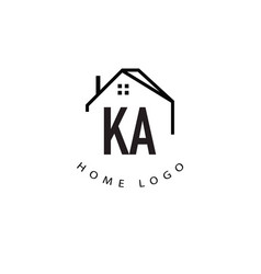 Initial letter ka home creative logo design vector