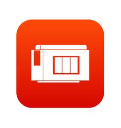 Inkjet printer cartridge icon digital red vector