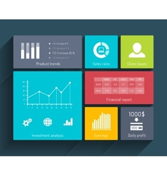 Interface Template with Diagrams vector image