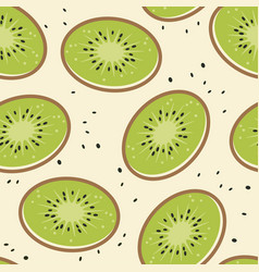 kiwi fruit seamless background vector image