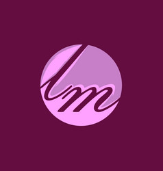 letter lm luxury creative business logo design vector image