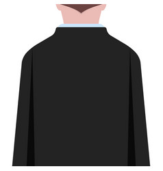Man in black suit back view on white background vector