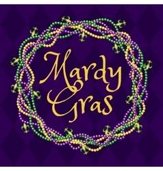 mardy gras purple background vector image