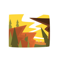 morning in the mountains beautiful summer vector image