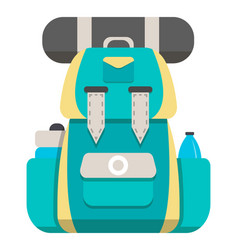 mountain hiking backpack icon vector image