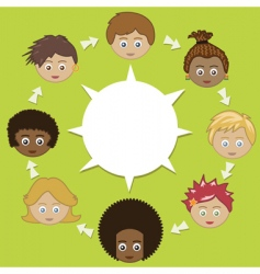 networking kids vector image