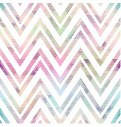 pastel color zigzag seamless pattern vector image
