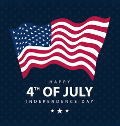 patriotic usa flag template card independence day vector image