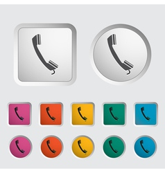 Phone icon 2 vector image