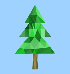 Polygon fur-tree image vector image