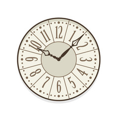 provence and shabchic clock isolated vector image