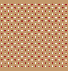 Red and white stars pattern on beige background vector