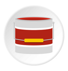 Red paint bucket icon circle vector