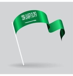 Saudi Arabian wavy flag vector image