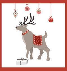 scandinavian year greeting card vector image