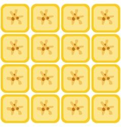 seamless banana pattern vector image