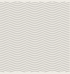 seamless geometric pattern wave line overlap on vector image