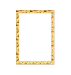 set of gold photo frame with corner thailand line vector image