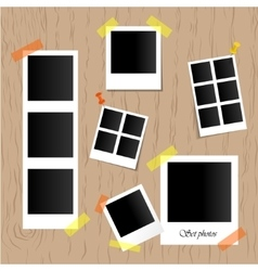 Set of realistic photo frames vector image