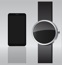 Smart electronic intelligence watch phone vector