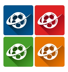 Soccer Logo Icons vector image