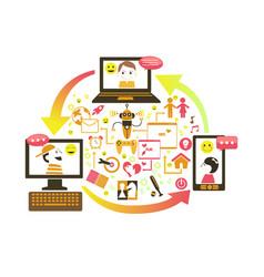 Social gaming concept vector