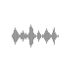 sound wave flat simple line vector image