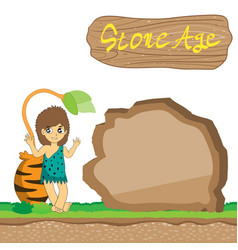 stone age cartoon eps10 file vector image
