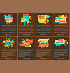 super sale and exclusive offer online banners set vector image