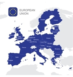 The european union map vector